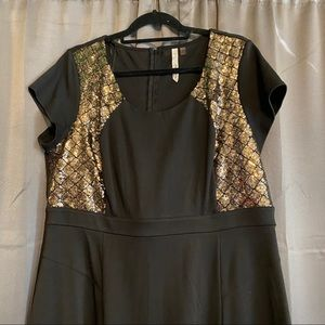 Black w/ Gold Sequin Party Dress